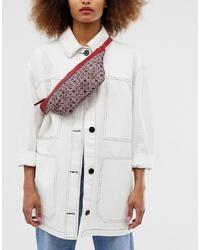 ASOS DESIGN Monogram Flat Bum Bag