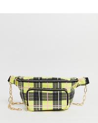 Skinnydip Toya Yellow Check Large Bum Bag