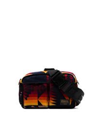 Sacai Blue Yellow And Red Pendleton Cotton Messenger Bag