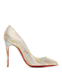 Christian Louboutin Pink Flame Pigalle Folies 100 Heels