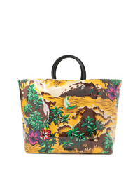 Dsquared2 Hawaiian Printed Tote Bag