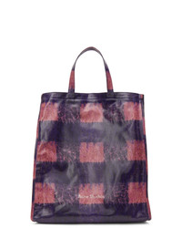 Acne Studios Pink And Blue Check Tote