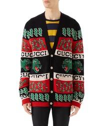 Gucci Logo Wool Cardigan