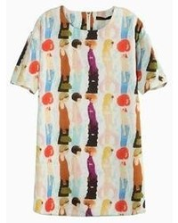 Multi colored Print Casual Dress
