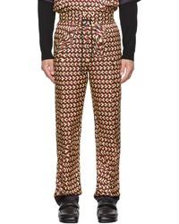 Dries Van Noten Red Printed Trousers