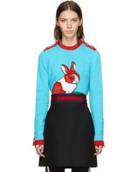 Gucci Multicolor Intarsia Rabbit Sweater