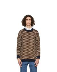 MAISON KITSUNÉ Multicolor Jacquard Pullover Sweater