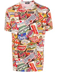DSQUARED2 All Over Print T Shirt
