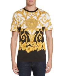 Versace Hibiscus Print T Shirt