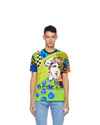 Versace Multicolor Collage Pop Temple Taylor T Shirt