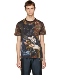 Dolce & Gabbana Multicolor Royal Panther T Shirt