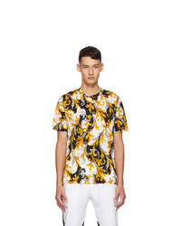 Versace White And Gold Acanthus Taylor T Shirt