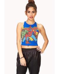 Forever 21 Rescue Me Superhero Crop Top