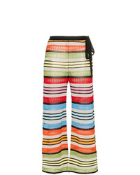 Mary Katrantzou Rego Stripe Wide Leg Trousers