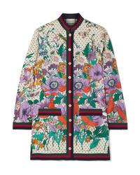 Gucci Med Printed Silk Twill Shirt