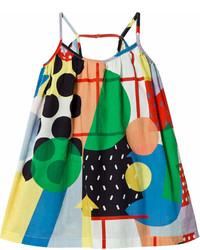 Stella McCartney Kids Multi Colour Abstract Print Tess Dress