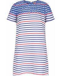 Preen Mini Stripe And Star Print Dress