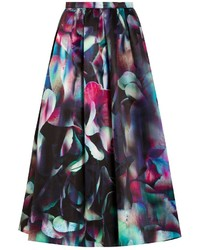 Emporio Armani Printed Duchess Satin Full Skirt