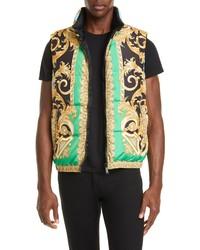 Versace Print Down Puffer Vest