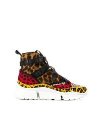 Valentino Garavani Leopard Print Hi Top Sneakers
