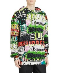 Burberry Harrington Graffiti Print Hoodie