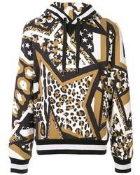 Dolce & Gabbana Multi Print Cotton Hoodie