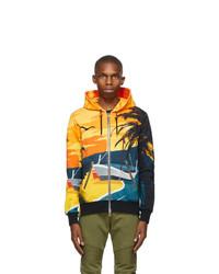 Balmain Multicolor Graphic Zip Hoodie