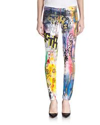 Multi colored Print Jeans