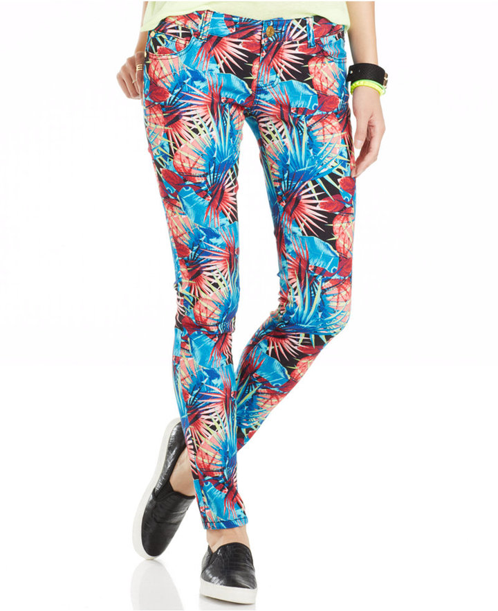 Colored Print Jeans Celebrity Pink Juniors Printed Skinny Web Id 1812686