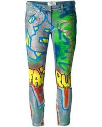 Faith Connexion Graffiti Print Skinny Jeans