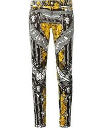 Versus Graphic Lion Skinny Jeans