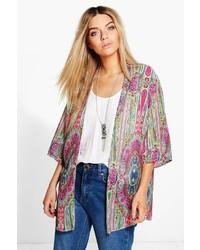 Multi colored Print Kimono
