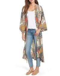 Kas New York Scarf Print Kimono Jacket