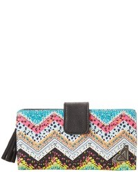 Multi colored Print Leather Clutch