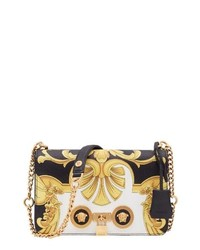 Versace Baroque Print Medium Icon Leather Crossbody Bag