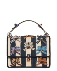 Fendi Kan I Embellished Ribbon Shoulder Bag