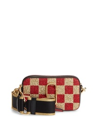 Marc Jacobs Snapshot Glitter Checkerboard Crossbody Bag