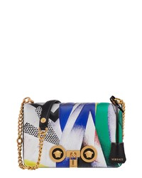 Versace Tribute Print Leather Shoulder Bag