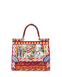 Dolce gabbana small sicily printed leather bag medium 123324