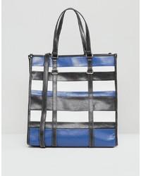 Mango Stripe Shopper Bag