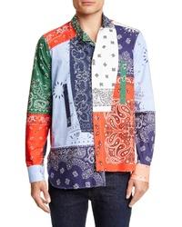 Multi colored Print Long Sleeve Shirt