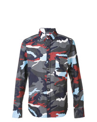Moncler Camouflage Print Shirt