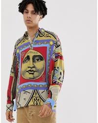 ASOS DESIGN Face Print Shirt