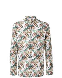 Dnl Leaf Print Shirt