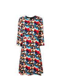 Marni Henne Pattern Midi Dress