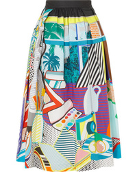 Mary Katrantzou Bowles Printed Stretch Cotton Midi Skirt