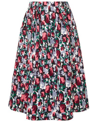 Marni Printed Denim Midi Skirt