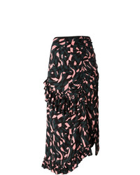 Marni Shatter Print Ruffled Skirt