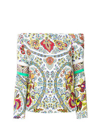 Etro Off The Shoulder Printed Blouse