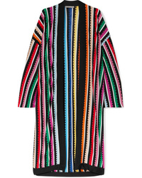 Mary Katrantzou Sola Striped Metallic Knitted Cardigan